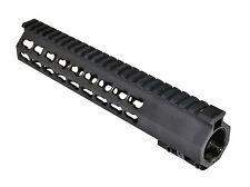 "10"" Super Slim Medium Free Float Keymod Quad Rail Handguard Steel Barrel Nut"