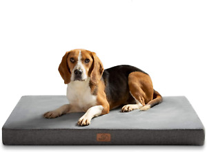 BEDSURE Small Dog Bed Washable - Memory Foam Orthopedic Dog Crate Bed with Soft