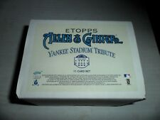 2008 ETopps Allen & Ginter Yankee Stadium Tribute Set 11 Cards /1499  Sealed