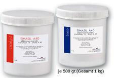 SIMASIL 40 -  Knetsilikon Knetmasse 1:1, 40 Shore A - 1 kg (2x 500g)