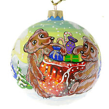 """""""Christmas Presents"""" Hand Painted Christmas Ball. Made in Ukraine."""