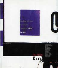 THE END OF PRINT: THE GRAFIK DESIGN OF DAVID CARSON., Blackwell, Lewis., Used; V