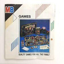 MB Games catalogo 1989 Hero Quest TORPEDO RUN passano i suini Ghost Castle Hotel