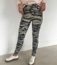 Mujer Camuflaje Militar Ajuste Flaco Vaqueros Elásticos Jeggings Pantalones 8-16