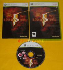 RESIDENT EVIL 5 XBOX 360 Versione Ufficiale Italiana 1ª Edizione »»»»» COMPLETO