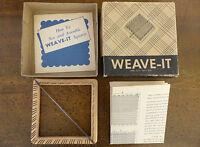 "VINTAGE Donar Weave-It 4"" WEAVING LOOM Instructions Needle Book Original BOX  #1"