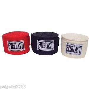 Everlast Boxing/MMA  Classic Training  Hand Wraps 3-Pk Black/Red/White