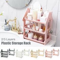 2/3 Tier Storage Rack Kitchen Spice Jar Shelf Holder Bathroom Makeup  SU