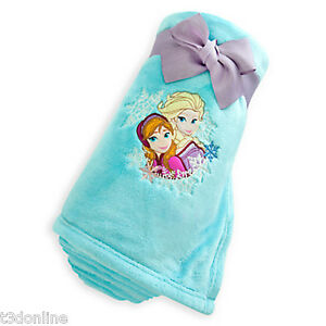 Authentic Disney Frozen Princess Anna and Elsa Fleece Throw Blanket Girl Kids