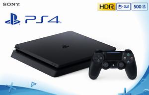 Sony Playstation 4 PS4 500GB SLIM Konsole Jet black CUH-2216A Händler OVP NEU