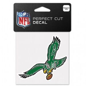 "Philadelphia Eagles 4"" x 4"" Retro Logo Truck Car Auto Window Die Cut Decal Color"
