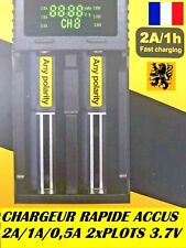 Chargeur Piles Accus rechargeable Lithium NIMH DC 3,7V DUAL 2x Plot 2A Rapide
