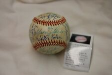 1992 EDMONTON TRAPPERS Autographed Baseball - CA Angels AAA - Tim Salmon, more..