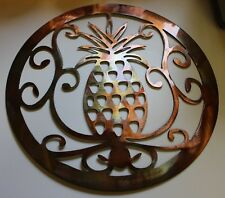 "Ornamental Pineapple Metal Wall Art 36"" Large"
