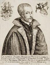 c1670 Seidel Erasmus von Kupferstich-Porträt Rat Berlin Brandenburg