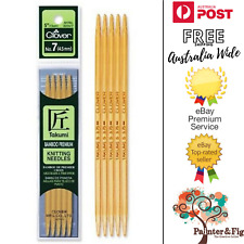 Clover Takumi Premium Bamboo Double Pointed Ended Knitting Needles - Many Sizes