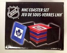 NHL GLASS COASTER SET CANADIAN SIX 6 HOCKEY FREE SHIPPING