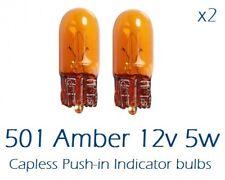 Ámbar de 2 X 501 501 A 12 V 5 W Bombillas Bombilla indicador Naranja SIDELIGHTS T10 par coche
