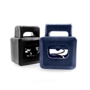 Cord locks rectangular style with metal spring, cubic, AIH