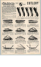1959 PAPER AD Western Black Beauty Hunting Knife Knives Trapper