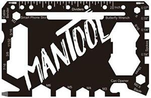 ManTool Multi-Tool Card Screwdriver Bottle Opener 46 In 1 Pocket Size
