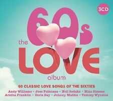 60'S LOVE ALBUM, 60 SONGS OF LOVE FEAT. FLEETWOOD MAC, DORIS DAY ETC. 3 CD NEU