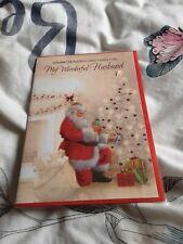 Husband Christmas Card BNIP - santa, Christmas tree