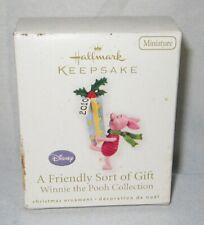 2010 Hallmark Miniature Ornaments ~ A Friendly Sort of Gift .dirty rough box