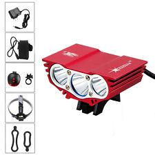 10000lm 3*CREE XML T6 LED Red Bicycle Lamp Bike Light Flashlight Torch Headlight