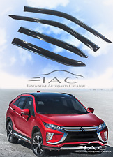 Chrome Trim Side Window Visors Vent Deflector For Mitsubishi Eclipse Cross 2018-