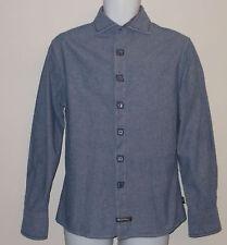ENGLISH LAUNDRY MATT BLUE L/S FINE COTTON DRESS SHIRT. EL7645C6