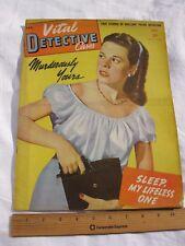 VITAL DETECTIVE CASES MAGAZINE SEPTEMBER 1945 (GUN MOLL COVER) SHIPS FREE 2 US!