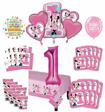 Mayflower Products Minnie Mouse 1st Birthday Party Supplies 8 Guest Decoration