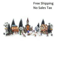Christmas Village 30-Piece Battery Operated Set Holiday animated, musical, light