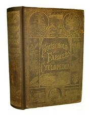 1882 Antique VICTORIAN FARM HOME HOUSE GUIDE Cookery Remedies HORSE BEES Garden