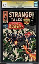 Strange Tales #140 Cgc 5.0 White Pages Ss Stan Lee Signed #1025490023