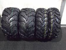HONDA RECON 250 ATV TIRES ( SET 4 TIRES )  22x7-11  22x10-9  QUADKING 6 PLY MUD