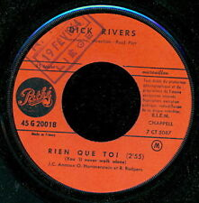 DICK RIVERS 45 TOURS FRANCE WHAT D I SAY (DE RAY CHARLES)
