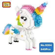 LOZ 9204 Unicorn Rainbow Horse Animal DIY Nano Blocks Diamond Mini Building Toy