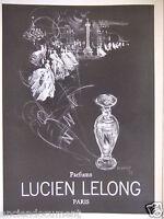 PUBLICITÉ 1952 PARFUMS LUCIEN LELONG PARIS - RUNACHER - ADVERTISING