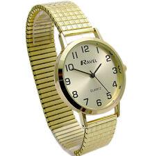 Ravel Men's Super-Clear Quartz Watch with Expanding Bracelet Gold 27 R0201.11.1