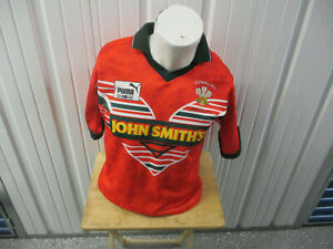 VINTAGE PUMA CYMRU Welsh Rugby Union RUGBY SMALL RED JERSEY 1995 KIT PREOWNED