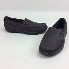 NWOT Rockport Mens Loafers 8.5 Brown Leather Slip On Rubber Sole Casual Shoes