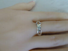 925 Sterling Silver ring (plated) Sizes 7, 8 CZ stones Womens jewellery. NWT
