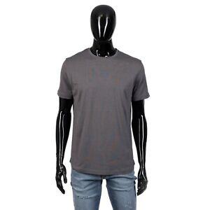 LORO PIANA 535$ Shortsleeve Crewneck Tshirt In Dark Grey Cotton & Silk