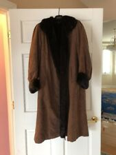 Black/brown Mink Fur Lined Coat