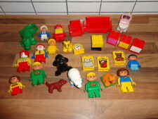 15 x LEGO DUPLO FIGUREN TIERE + BAUSTEINE DUPLOSTEINE SONDERSTEINE MÖBEL