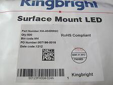 Kingbright LED, sideled, 20ma, 2,1v 570nm, mega-GREEN SMD, ka4040mgc, 25 ST = € 3,98