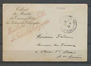 1908 franchise griffe Ministre des Travaux Publics des Postes Télégraphes X3105