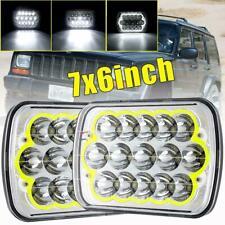 "2X DOT 7X6"" 5X7"" 360W LED Headlight Halo Ring DRL For Chevrolet Jeep Cherokee XJ"